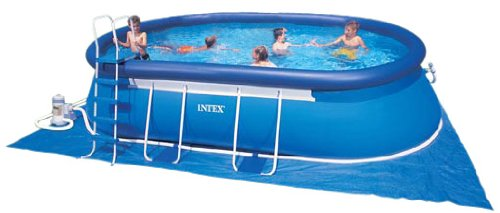 Intex 57982 GS - Marco de Piscina Set Ovalada, Aprox. 366 x 620 x ...