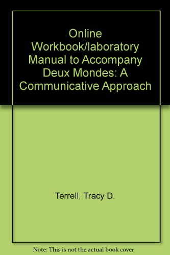 Quia Online Workbook/Laboratory Manual Access Card for Deux mondes: A Communicative Approach