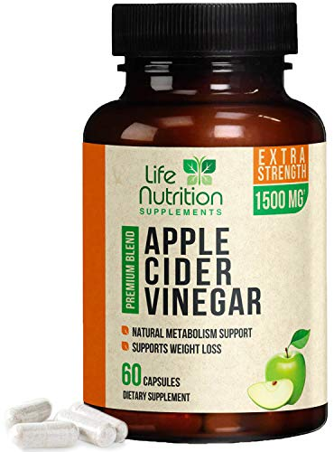 Apple Cider Vinegar Capsules Max Potency Complex 1500mg - ACV Pills for Fast Weight Loss, Appetite Suppressant & Metabolism Booster - Gentle Detox Cleanse for Men & Women, Made in USA - 60 Capsules (Best Liquid Appetite Suppressant)