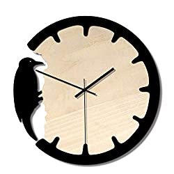 Wall Clock Decoration Modern Home Woodpecker Wall Clock Creative European Retro Wooden Clock Mute Wall Clock Living Room Home Cartoon Acrylic Clock Wall Clock Not Tick