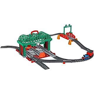 Thomas & Friends TrackMaster, Knapford Station Train Set Track With 2 in 1 Playset and Storage Case for Preschoolers 3 and Older