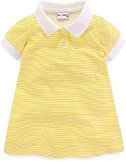 Mud Kingdom Little Girls Polo Shirt Short Sleeve Stripe Pattern