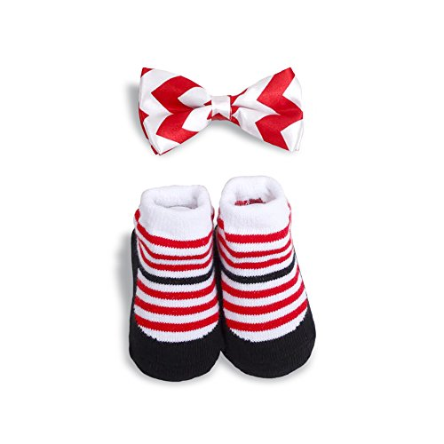 Adorable Baby Boy Bow Tie and Socks by Babygifts, Baby Boy Gift Set for 0-6 Months Baby, Top Baby Boy Shower Gift