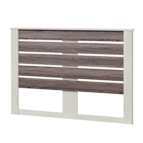 Ameriwood Home Colebrook Full Headboard, Vintage White/Rustic