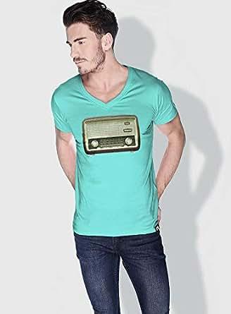 Creo Radio Retro T-Shirts For Men - S, Green