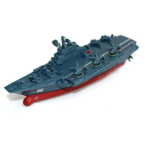 Carrier Model (Tipmant Military Remote Control Aircraft Carrier Model RC Boat Ship Speedboat Yacht Electric Water Toy - Blue (2.4 G, Antenna Not Required))