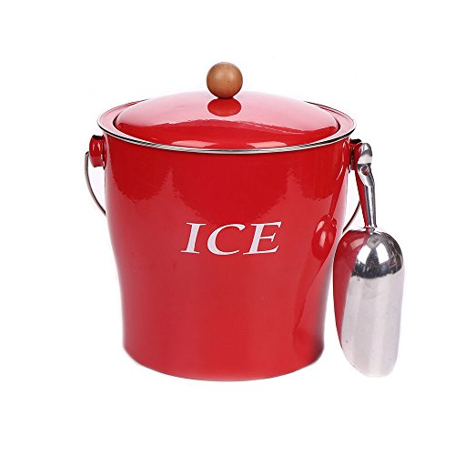 enamel bucket with lid - 6