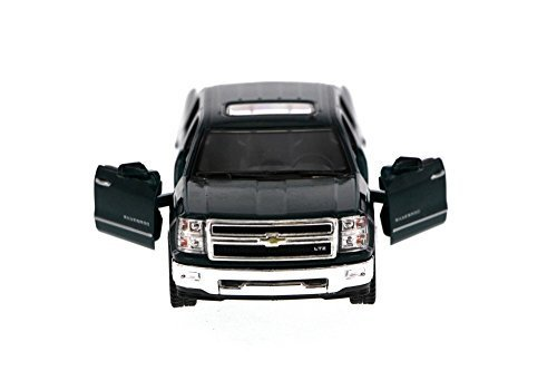 Kinsmart 2014 Chevy Silverado Pick-up Truck, Green 5381D - 1/46 Scale Diecast Model Toy Car