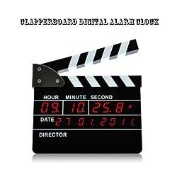 Clapperboard Style Digital Alarm Clock