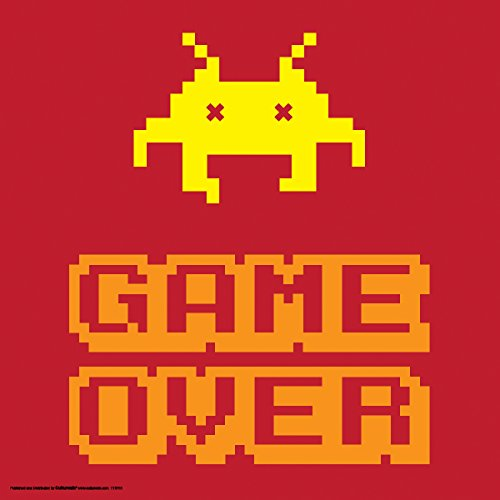 Game-Over-Classic-Video-Game-Humor-Novelty-College-Lifestyle-Decorative-Art-Poster-Print-12x12