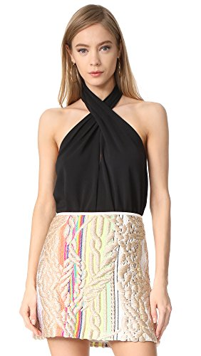 Amanda Uprichard Women's Beckett Top, Black, Small by Amanda Uprichard