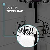 Zenna Home Shower Tension Pole Caddy, Bronze
