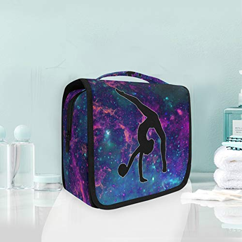 Makeup Bag Gymnastics Under The Starry Night Cosmetic Portable Travel Hanging Toiletry Bag