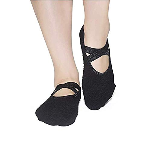 Yoga Socks Non Slip Skid Socks - Elutong 3 Pack Ballet Barre Pilates Sports Socks Gripper For Women