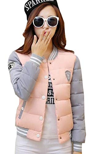 security Women Lightweight Outdoor Long Sleeve Quilted Down Jacket Pink
