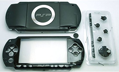 New Cover Housing Faceplate (Gametown NEW Replacement Sony PSP 1000 Full Housing Shell Cover With Button Set -Black.)