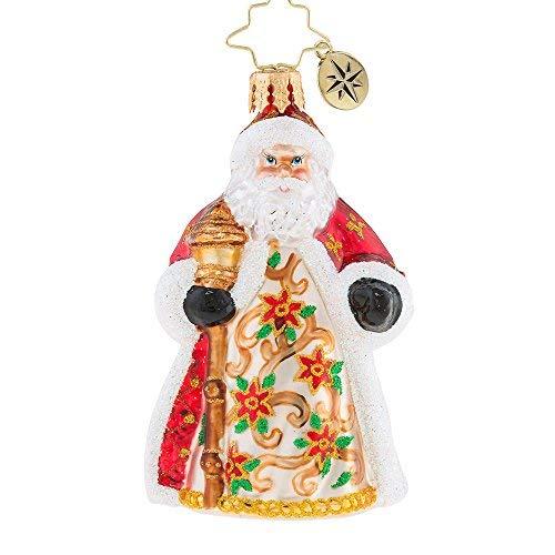 Christopher Radko Poinsettia Passion Little Gem Christmas Ornament