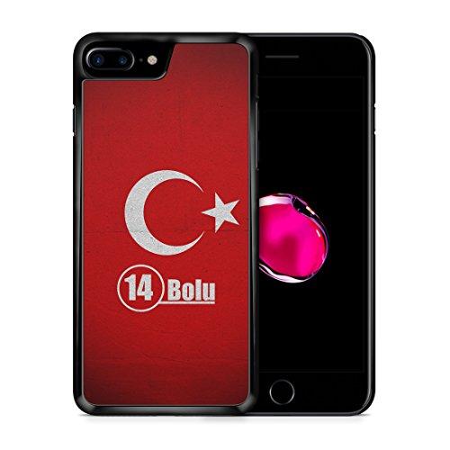 Bolu 14 Türkiye Türkei iPhone 7 PLUS SCHWARZ Hardcase Hülle Cover Case Schale Tasche Turkey Bayrak