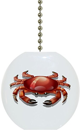 Red-Crab-Nautical-Solid-CERAMIC-Fan-Pull