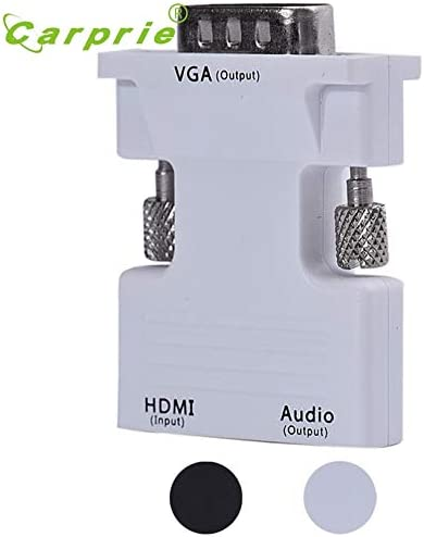 Computer Cables Yoton HDMI Female to VGA Male Converter with Audio Adapter 1080P Signal Output Mar13 MotherLander Cable Length: Audio Adapter, Color: White