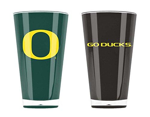 NCAA Oregon Ducks 20oz Insulated Acrylic Tumbler Set of 2 ()