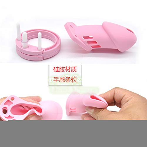 SCGOLD Saft CB6000 Silicone Male Chastity Device Chastity Cage Sex Toys for Men Sex Products Pink by SCGOLD (Image #7)