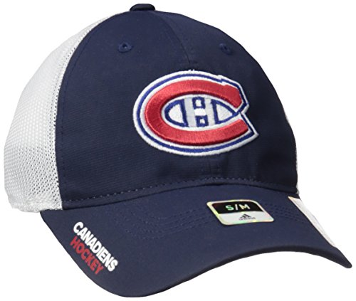 fan products of NHL Montreal Canadiens Adult Men Pro Authentic Meshback Slouch Flex, Small/Medium, Navy
