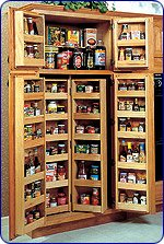 Omega National 24 inch Base Pantry System, 4 Piece Set, 12-1/4 inch W x 24 inch H by National