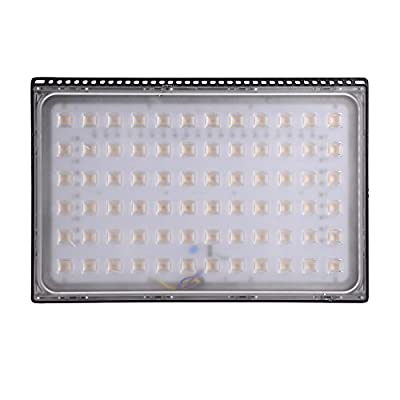 10W 20W 30W 50W 100W 150W 200W 250W 300W 500W High Power LED Flood Light, Coolkun Projector Outdoor Spotlight, Waterproof, SMD Landscape Security Lights (500W Warm Ultra-thin)