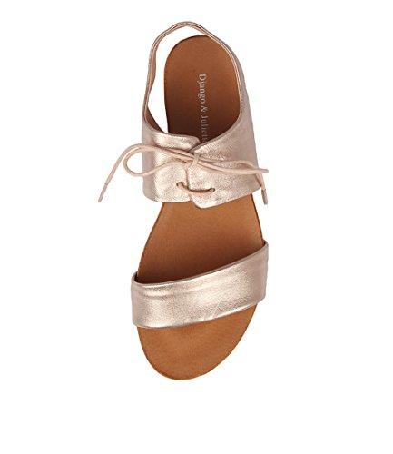 DJANGO GOLD LEATHER Sandals JULIETTE Womens TAN Flat amp; Summer F Sandals ROSE James SwgrOFS