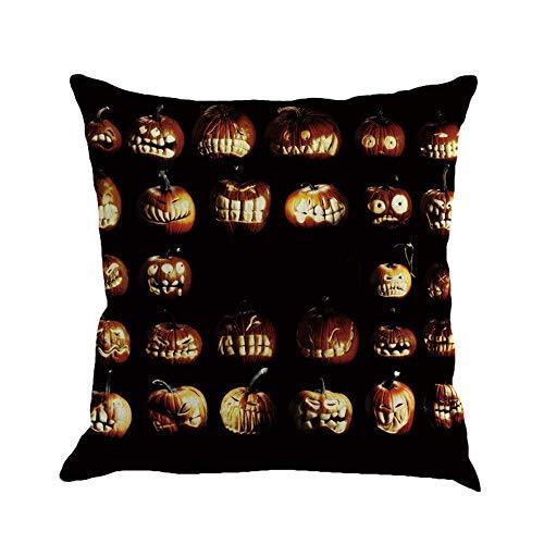(JOMYY Throw Pillow Covers, Halloween Pumpkin Pillow Cases Cushion Cover Home Sofa)