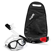 PRODIVE Premium Dry Top Snorkel Set - Impact Resistant Tempered Glass Diving Mask, Watertight and