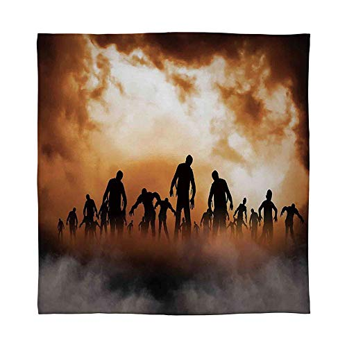 YOLIYANA Lightweight Blanket,Halloween Decorations,for Bed Couch Chair Fall Winter Spring Living Room,Size Throw/Twin/Queen/King,Zombies Dead Men Body in The Doom -