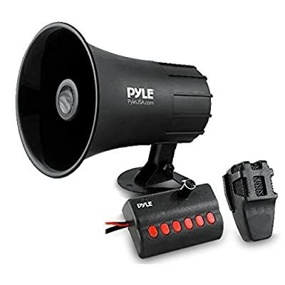 Pyle Siren Horn Speaker with Handheld PA Microphone, Emergency Warning Alert Audio System (PSRNTK23)