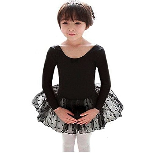 - 41p0VGLzvmL - BAOHULU Toddler Girls Leotard Classic Polka Dot Ballet Tutu Dress 2-7 Years
