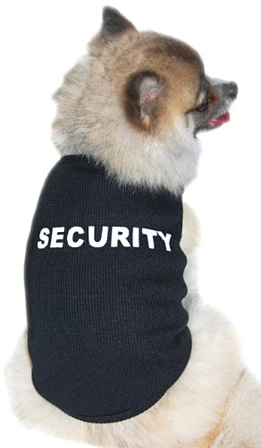 Anima Black Ribbed Security Tank Top, Poly Cotton Blend, Large, My Pet Supplies