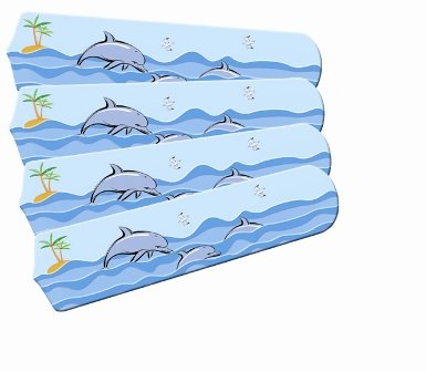 s 42SET-IMA-KPD Kids Playful Dolphins 42 In. Ceiling Fan Blades Only (Kids Playful Dolphins)