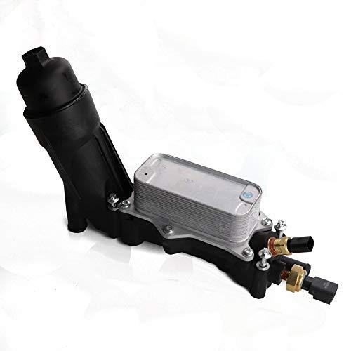 HODEE for New Engine Oil Filter Cooler Housing For 2014-2017 Chrysler Dodge Jeep 3.6L V6 Engine Replace OE: 68105583AF