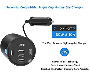 iXCC 24W//4.8A 2 Port Car Charger USB Car Charging Port for Galaxy S8+ S7 S6 Edge LG,and More Black 4336805483 iPad Pro Air Mini Fast Car Charger Adapter for iPhone 8s 7s 6s Plus Note 5