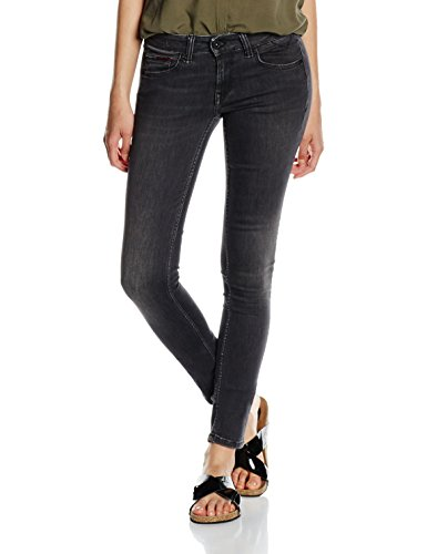 Washed Str Jeans Sophie Dywbst dynamic Nero Tommy Rise Blk Donna Low Skinny IdqxqwUzP