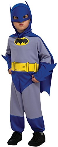 Rubie's Boy's Batman Outfit Movie Theme Fancy Dress Toddler Halloween Costume, Toddler (2-4T) Grey/Blue