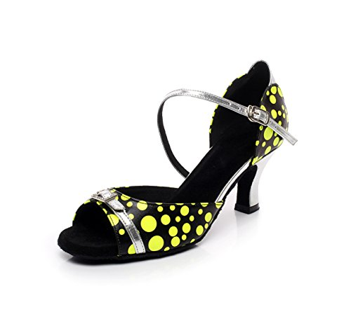 Latin Tango Altos 5 C EU34 Satin Zapatos JSHOE Sandals Chacha Cristales De Salsa Our35 De Dance Modern Sparking Tacones Baile Mujer Jazz UK3 heeled6cm 1q1XBvwT