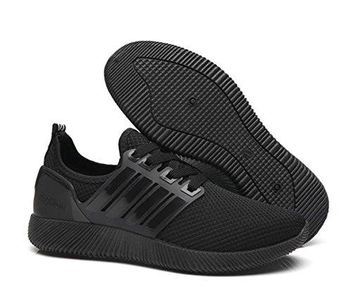 Ein bißchen Damen Frauen Sportschuhe Rutschfest Fitnessschuhe Straßenlaufschuhe schwarz-B