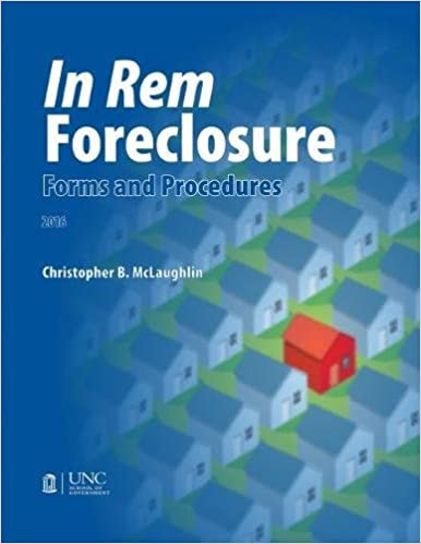 Book In Rem Foreclosure Forms and Procedures