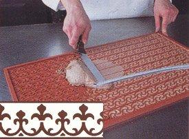 3-D Silicone Non Stick Decorating Mat (Relief Mat), Fleur-de-Lys Design by Pavoni