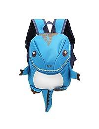 iLifeSmart Mochila para Niños de Dinosaurio de Dibujos Animados Bolsa cómoda de Escuela con Gran Capacidad Material Impermeable Malla trasera Diseño Transpirable Varios Colores (Azul)
