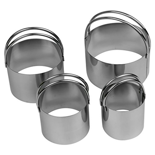 Evelots Endurance 4 Piece Stainless Steel Biscuit Cutter Set, Cookie Cutters - Endurance Biscuit Cutters
