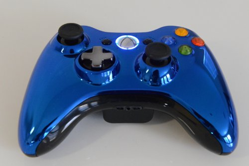(Lighting Modz Chrome Blue 17 Modes Xbox 360 Modded Rapid Fire Controller with Drop Shots Quick Scope for COD Advanced Warfare)