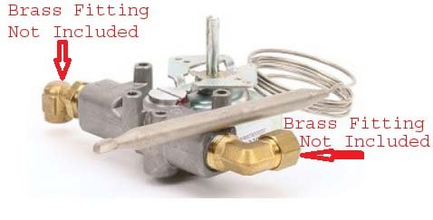 coldsupply Compatible Southbend Thermostat Griddle 1182553 Replacement Brass Fittings Not Included