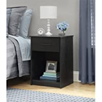 Mainstays Nightstand/End Table, Ebony
